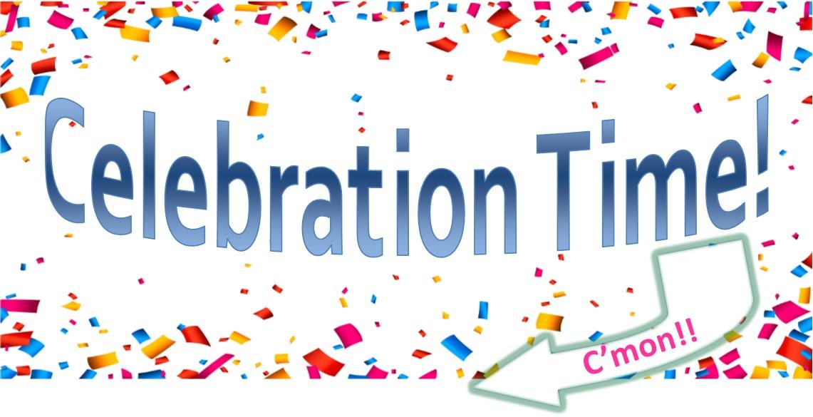 Celebration Time with confetti