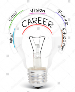 Career planning lightbulb